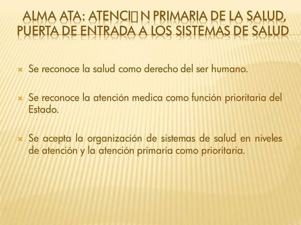 Alma Ata: Atención primaria de la salud, Puerta de entrada a los sistemas de salud