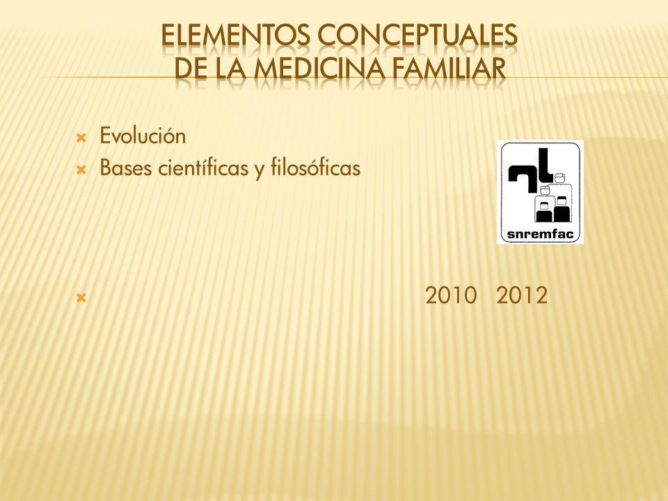ELEMENTOS CONCEPTUALES DE la MEDICINA FAMILIAR