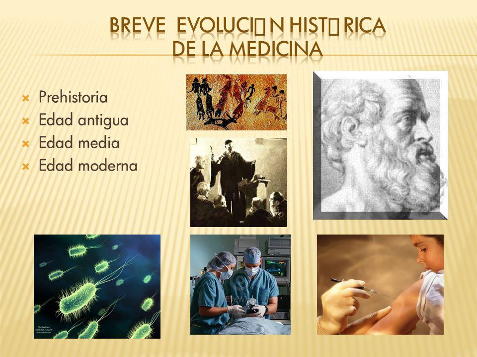 BREVE Evolución Histórica DE LA MEDICINA