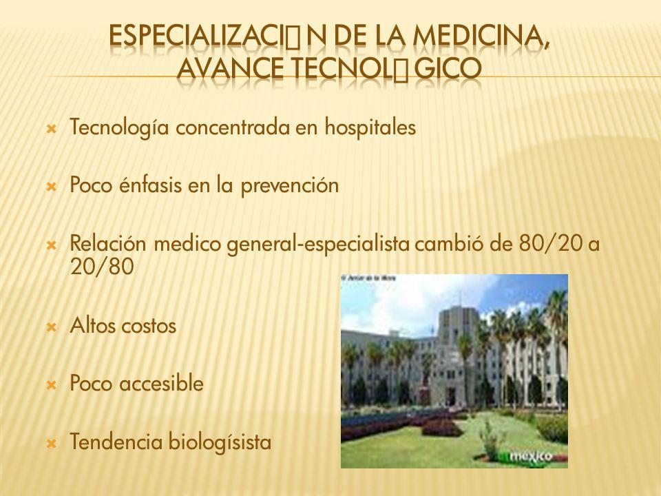 Especialización DE LA MEDICINA, AVANCE Tecnológico