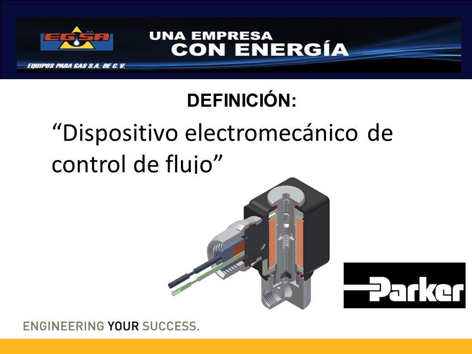 Dispositivo electromecánico de control de flujo