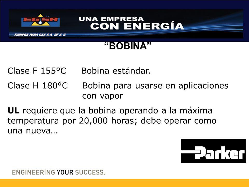 BOBINA Clase F 155°C Bobina estándar.
