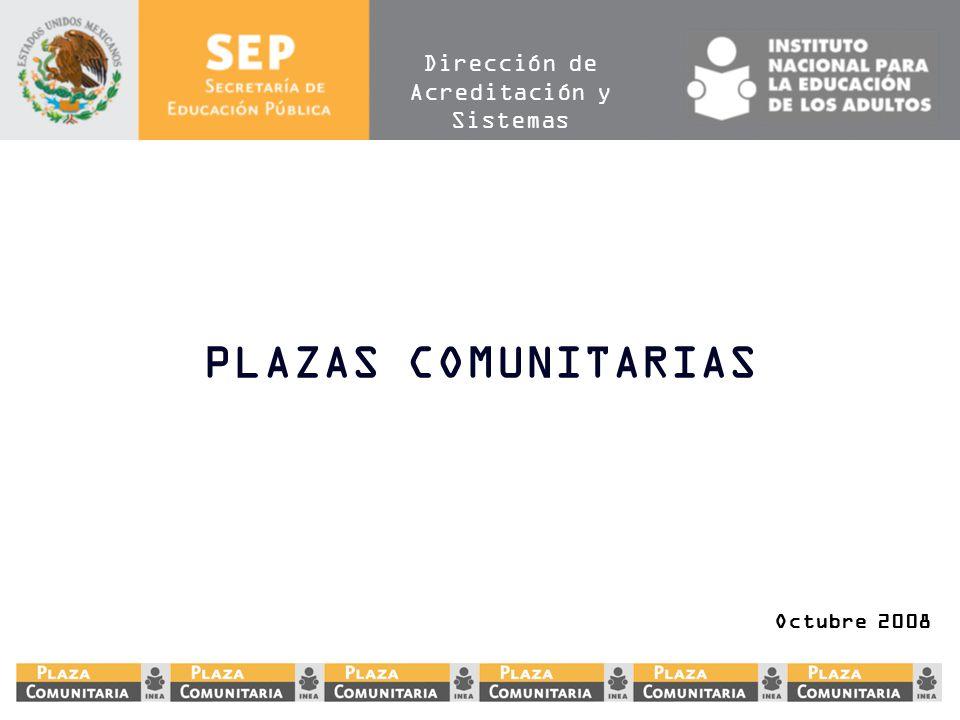 PLAZAS COMUNITARIAS Octubre 2008