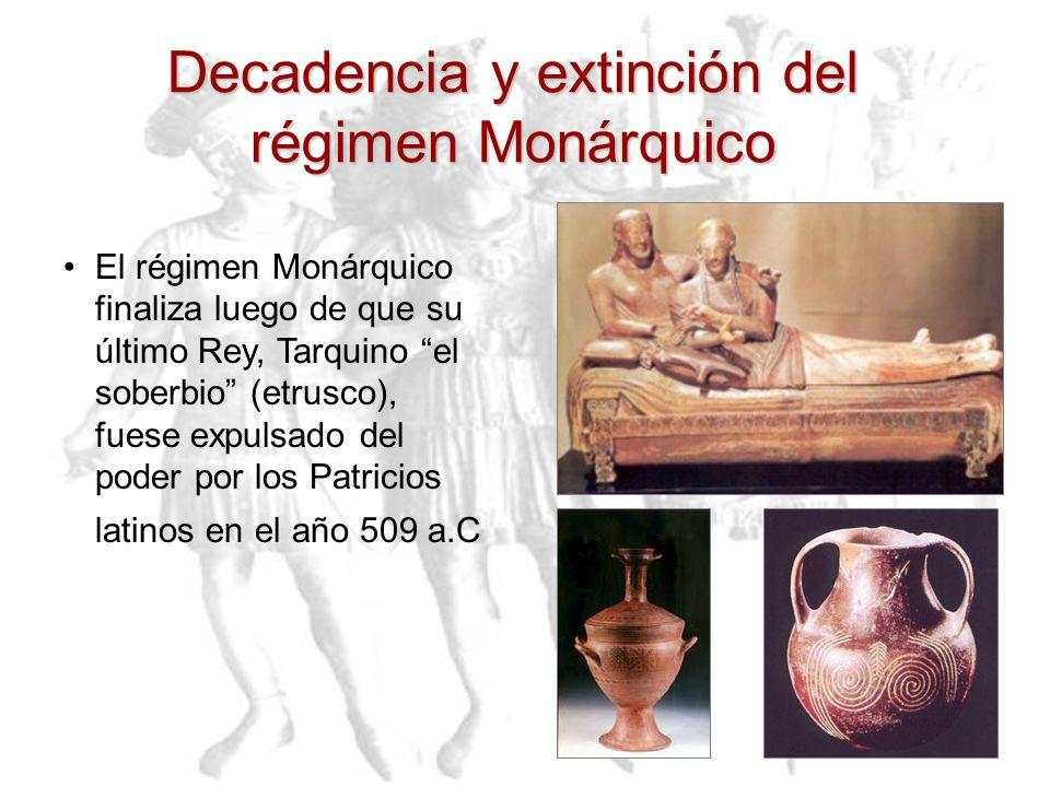 Decadencia y extinción del régimen Monárquico