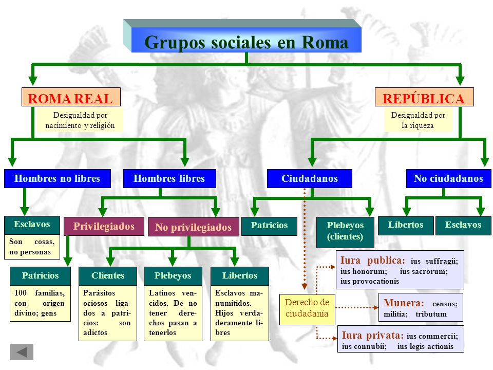 Grupos sociales en Roma