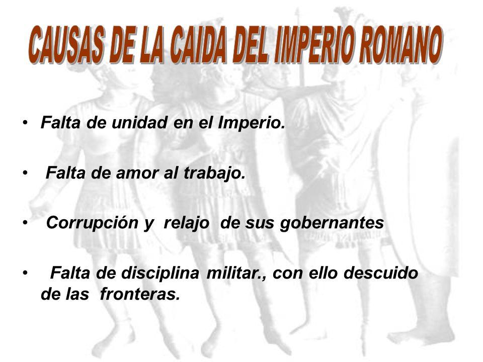 CAUSAS DE LA CAIDA DEL IMPERIO ROMANO