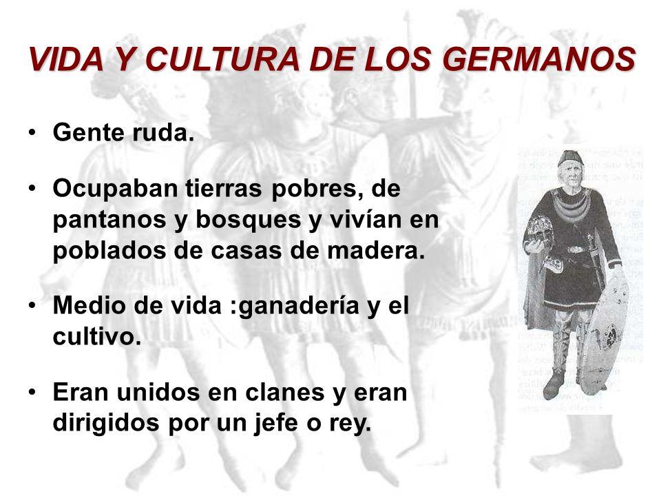 VIDA Y CULTURA DE LOS GERMANOS