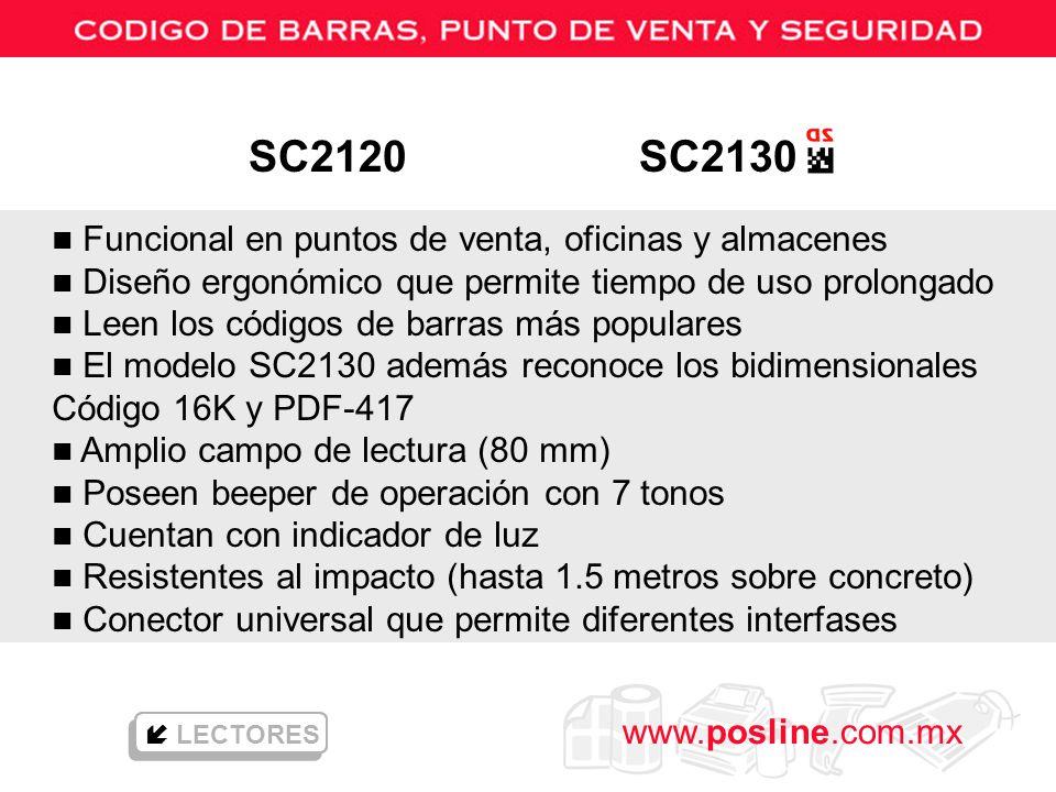 SC2120 SC2130 Funcional en puntos de venta, oficinas y almacenes