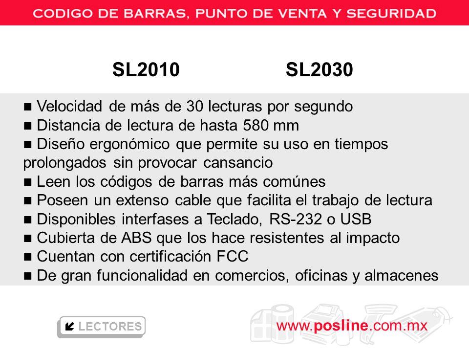 SL2010 SL2030 Velocidad de más de 30 lecturas por segundo