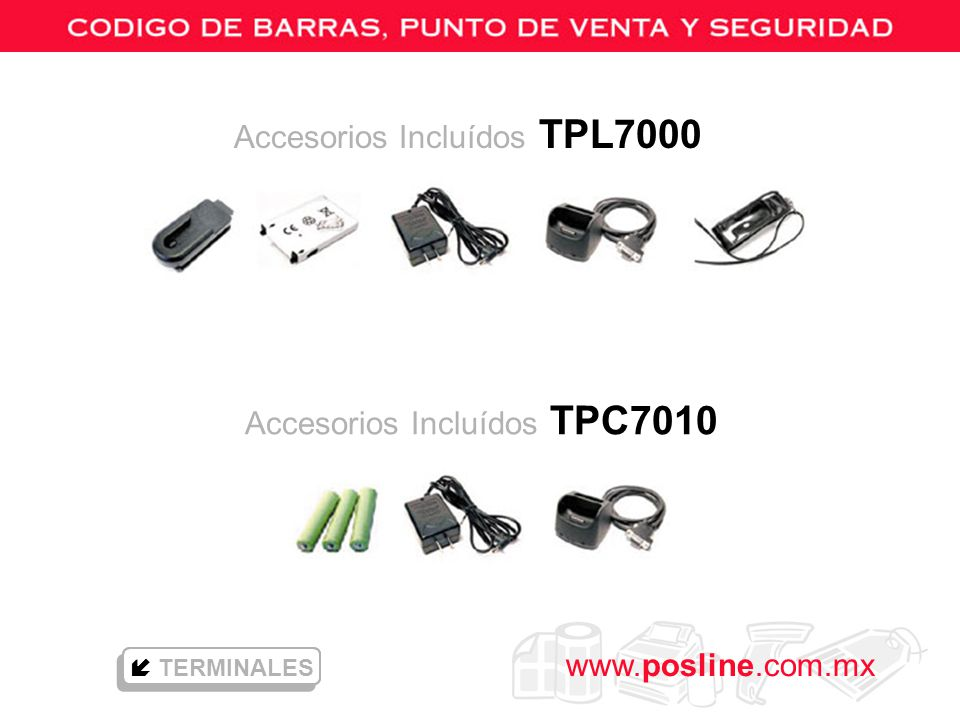 Accesorios Incluídos TPC7010