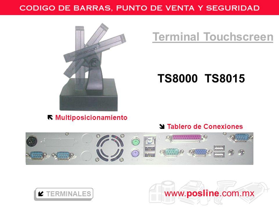 Terminal Touchscreen TS8000 TS8015  Multiposicionamiento