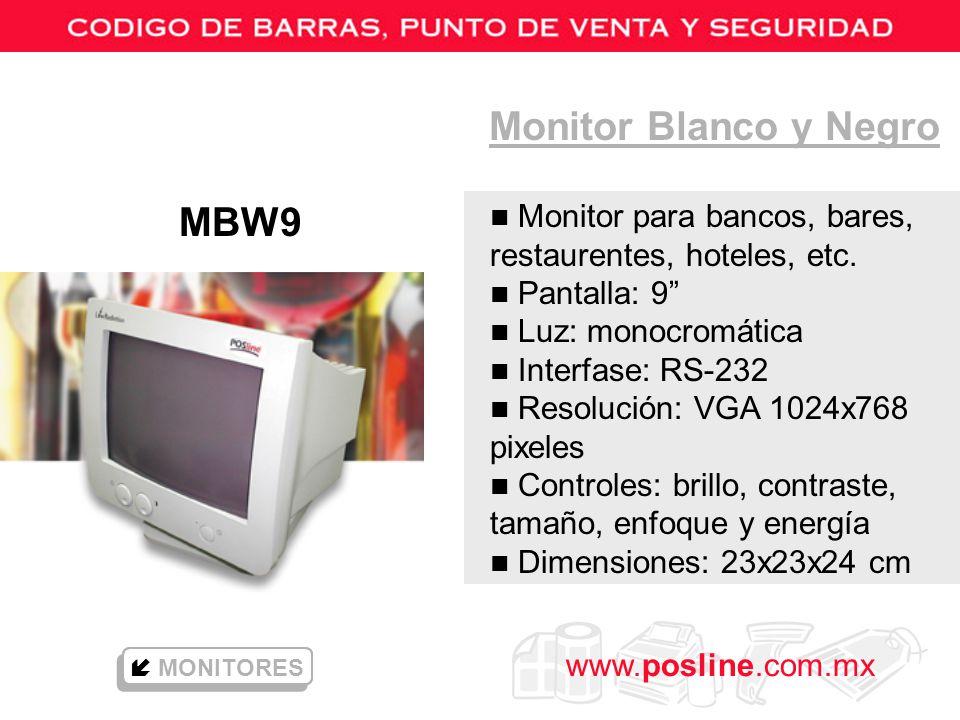 Monitor Blanco y Negro MBW9