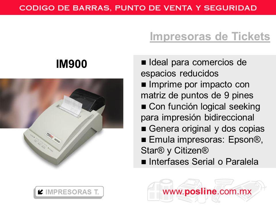 Impresoras de Tickets IM900 Ideal para comercios de espacios reducidos