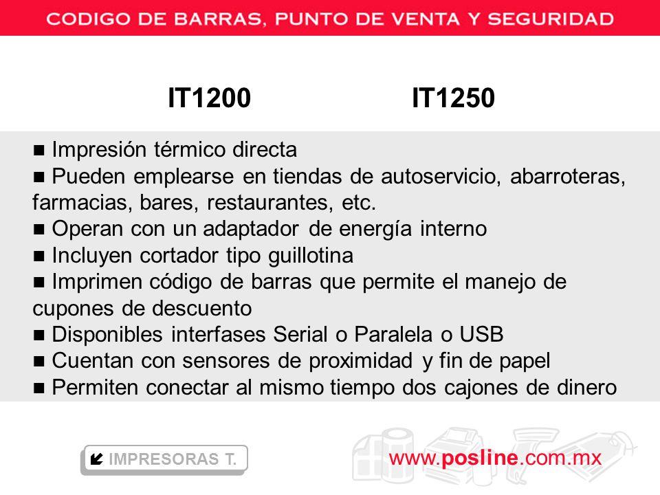 IT1200 IT1250 Impresión térmico directa