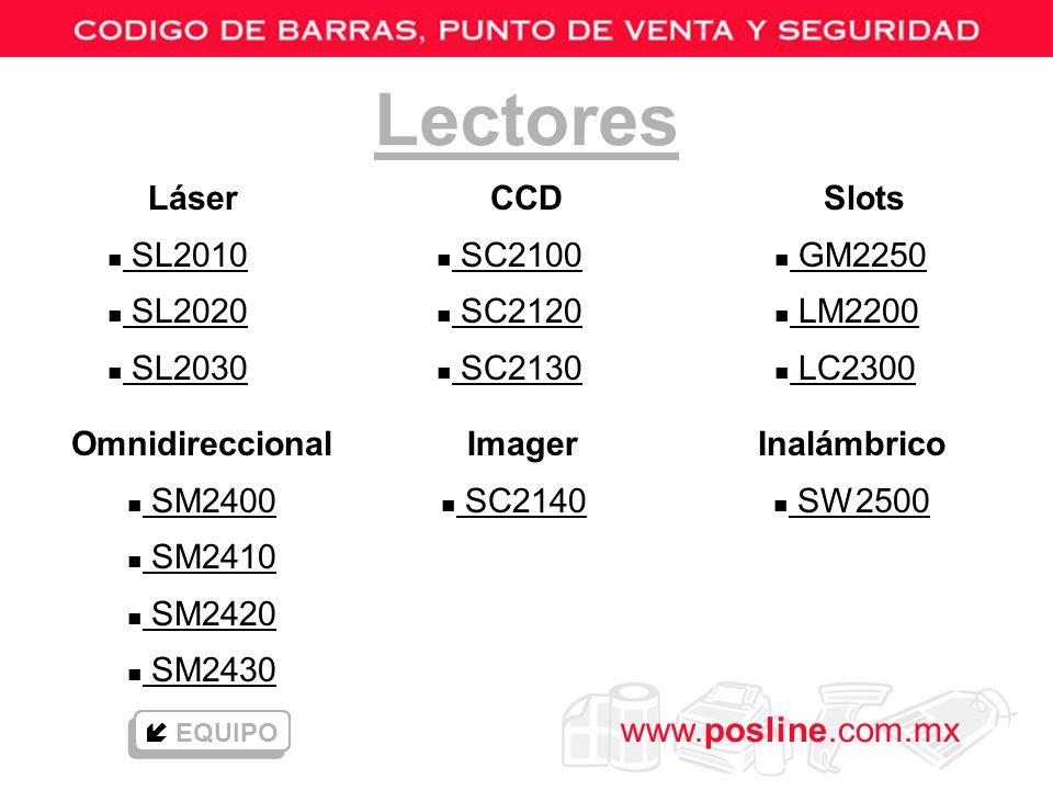 Lectores Láser SL2010 SL2020 SL2030 CCD SC2100 SC2120 SC2130 Slots