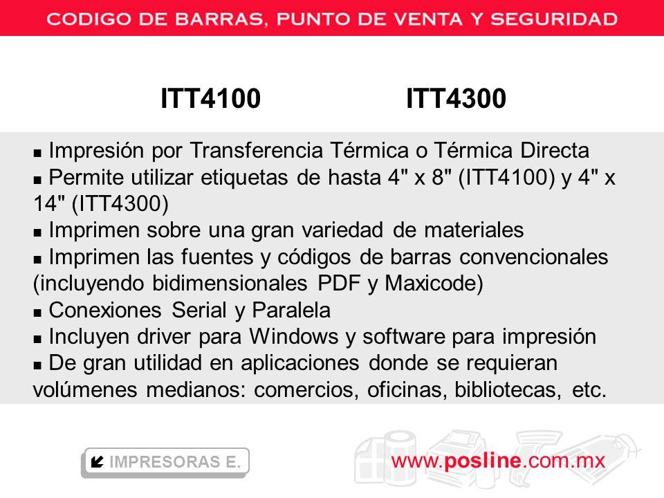 ITT4100 ITT4300 Impresión por Transferencia Térmica o Térmica Directa