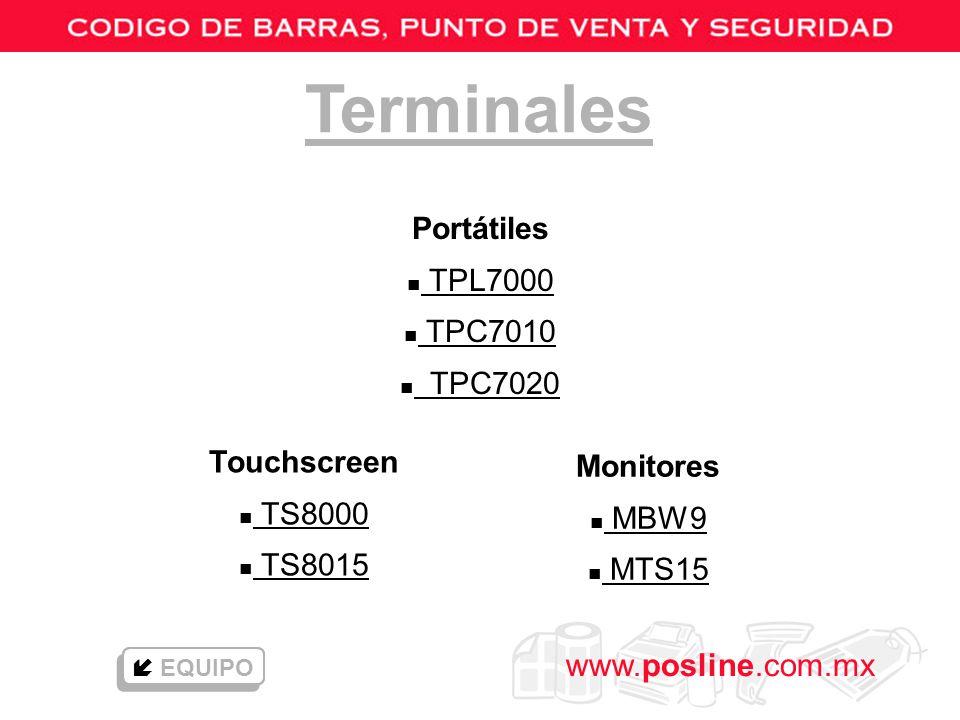 Terminales Portátiles TPL7000 TPC7010 TPC7020 Touchscreen Monitores