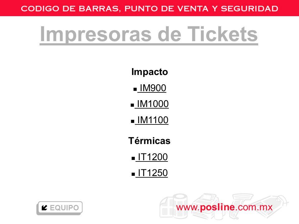 Impresoras de Tickets Impacto IM900 IM1000 IM1100 Térmicas IT1200