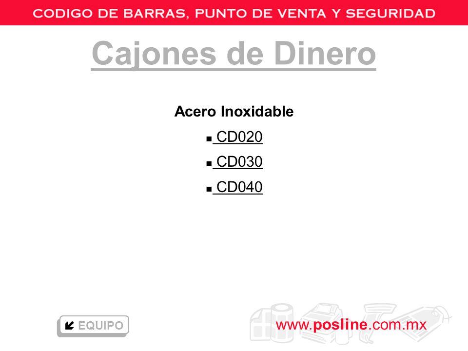 Cajones de Dinero Acero Inoxidable CD020 CD030 CD040  EQUIPO