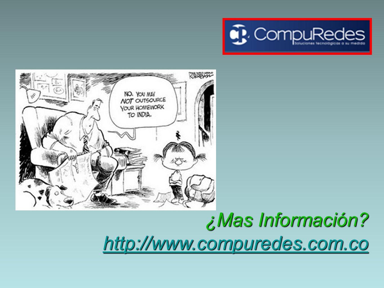 ¿Mas Información http://www.compuredes.com.co