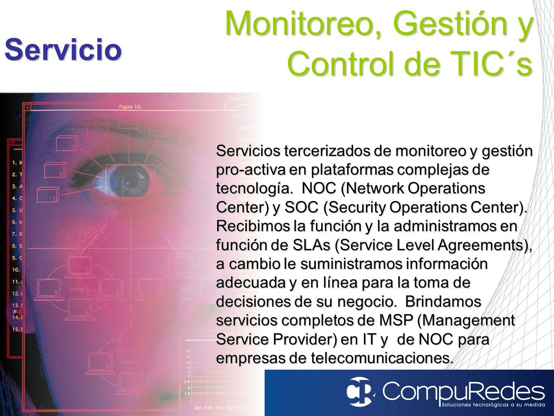 Monitoreo, Gestión y Control de TIC´s
