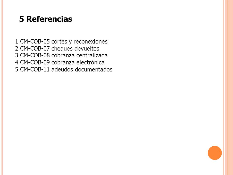 5 Referencias 1 CM-COB-05 cortes y reconexiones