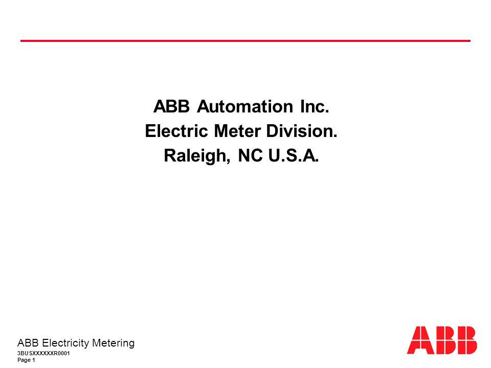 Electric Meter Division.