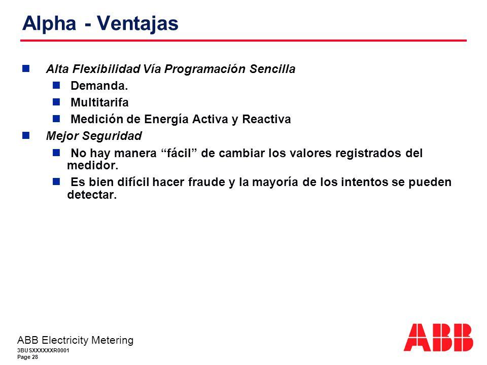 Alpha - Ventajas Alta Flexibilidad Vía Programación Sencilla Demanda.