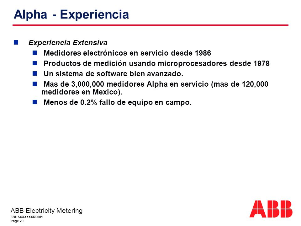 Alpha - Experiencia Experiencia Extensiva