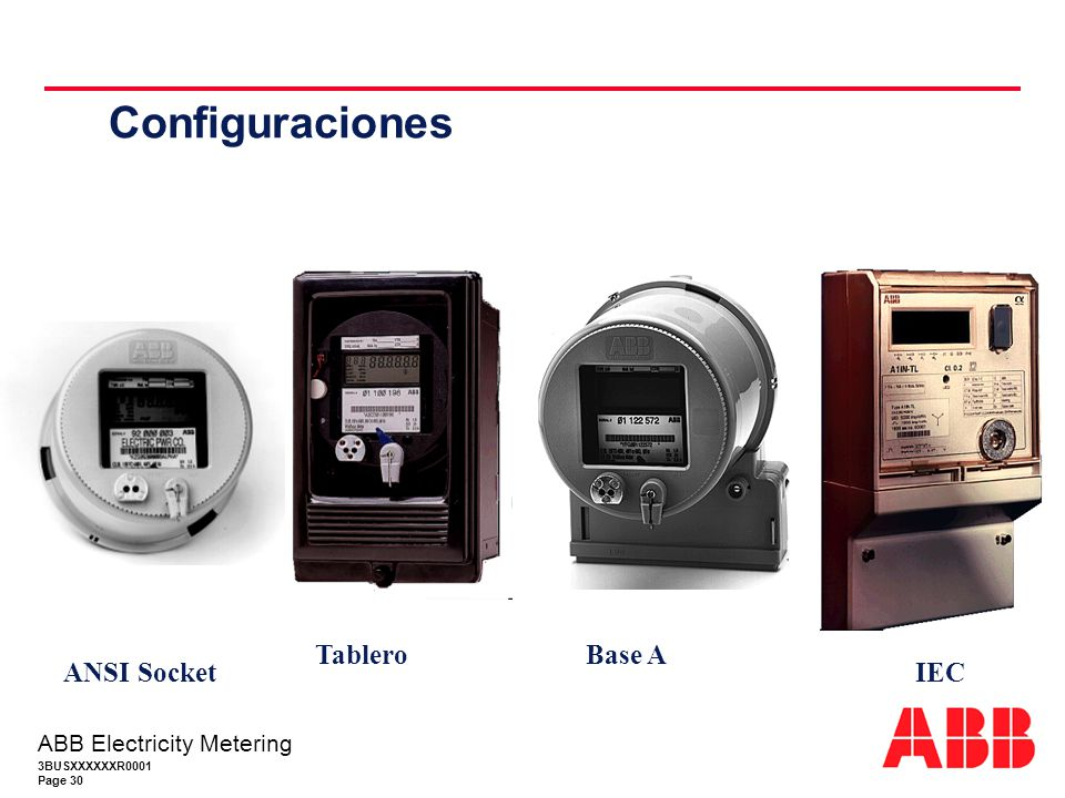 Configuraciones Tablero Base A ANSI Socket IEC