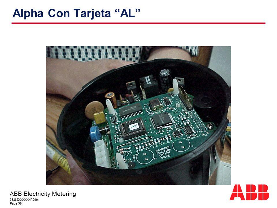 Alpha Con Tarjeta AL