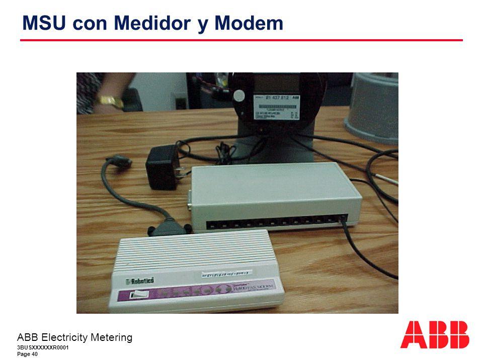MSU con Medidor y Modem