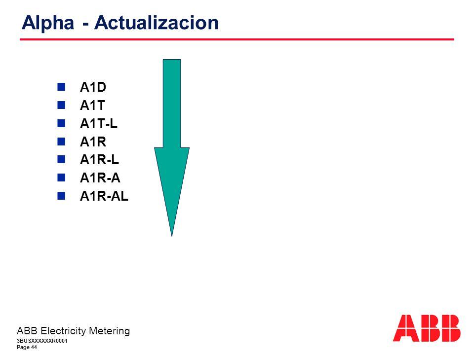 Alpha - Actualizacion A1D A1T A1T-L A1R A1R-L A1R-A A1R-AL