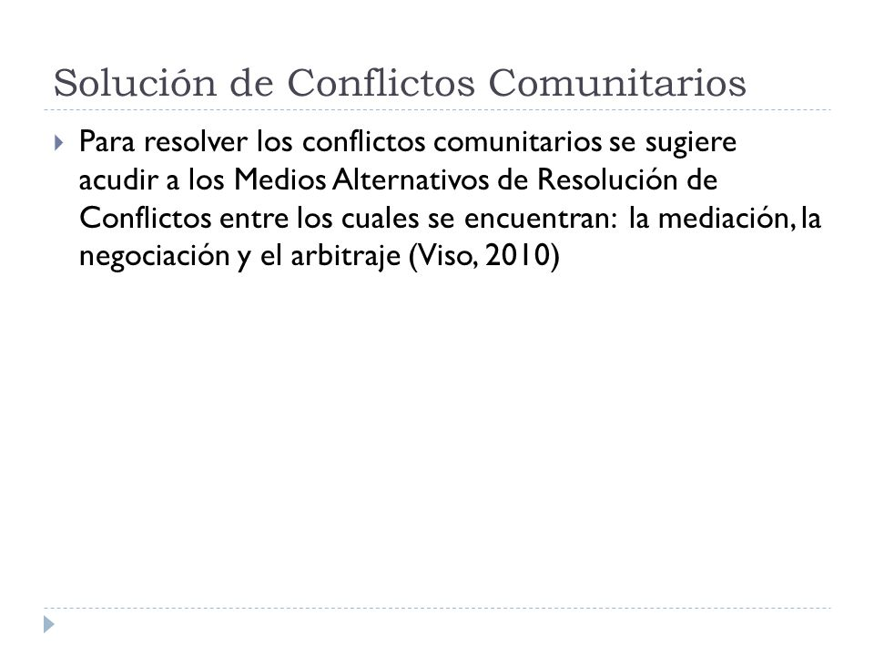 Solución de Conflictos Comunitarios