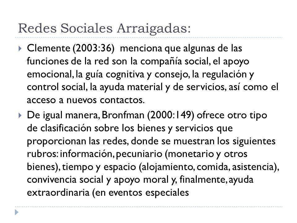 Redes Sociales Arraigadas: