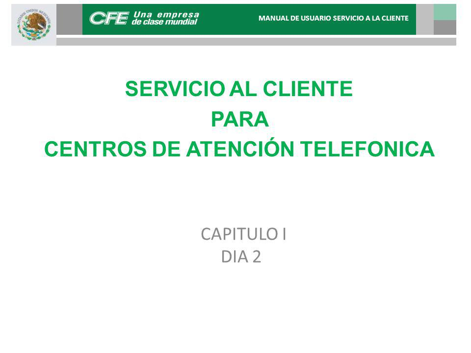 SERVICIO AL CLIENTE & CENTER