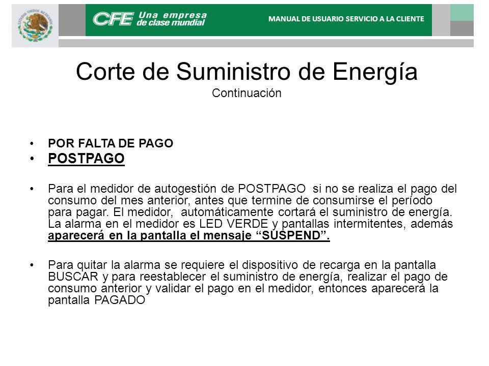 Corte de Suministro de Energía Continuación