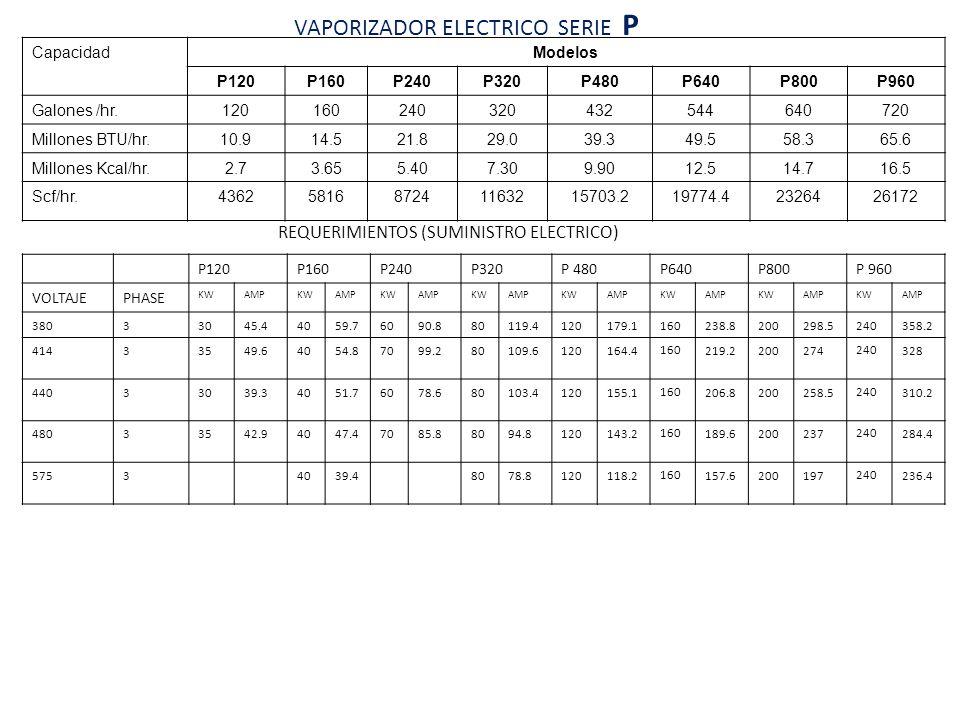 VAPORIZADOR ELECTRICO SERIE P