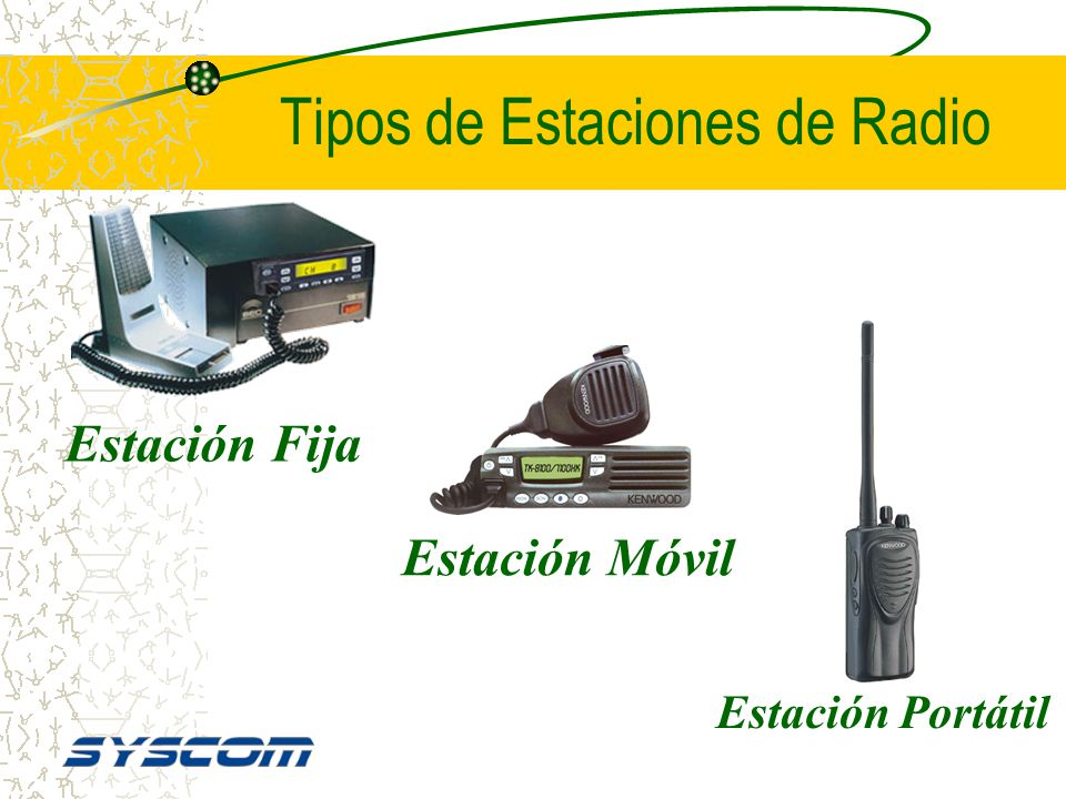 Tipos de Estaciones de Radio