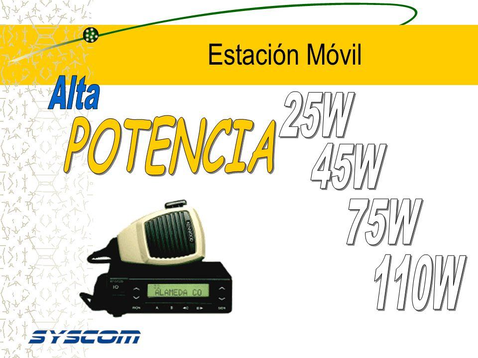Estación Móvil Alta 25W POTENCIA 45W 75W 110W