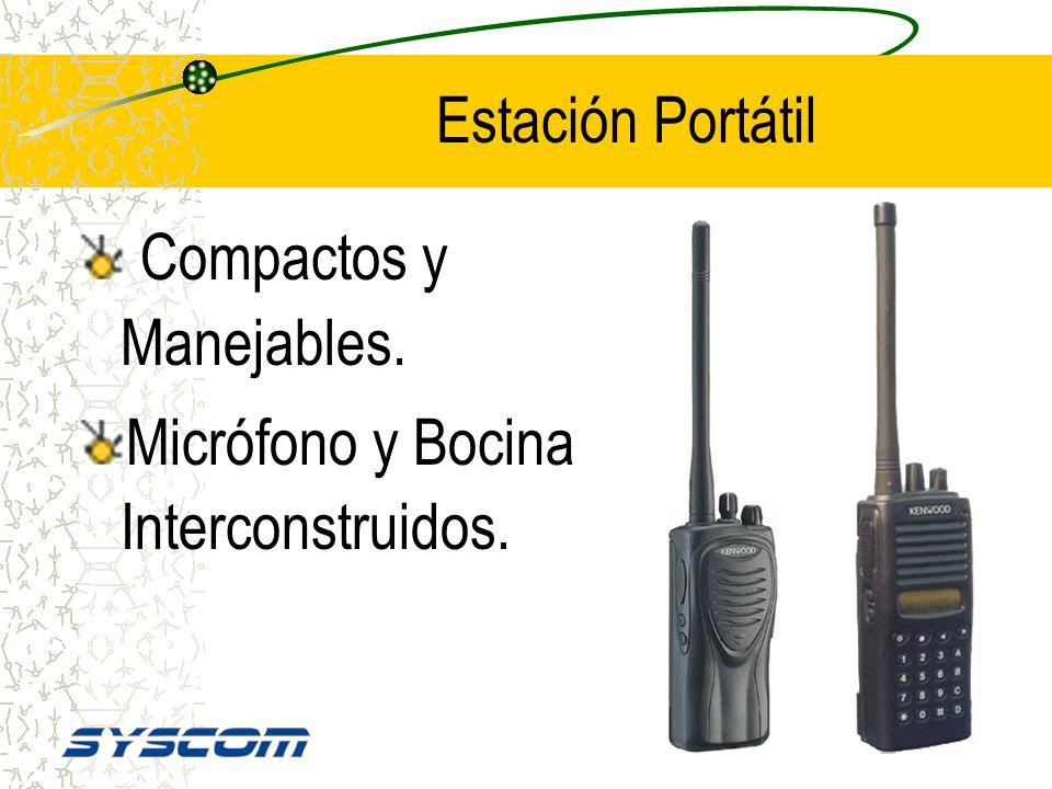 Estación Portátil Compactos y Manejables. Micrófono y Bocina Interconstruidos.