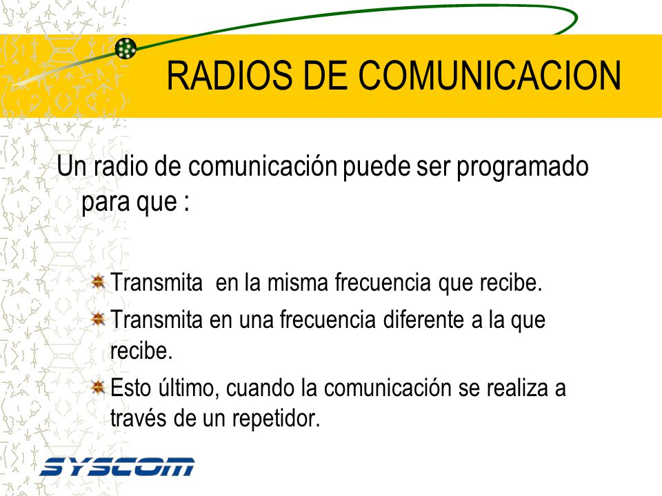 RADIOS DE COMUNICACION