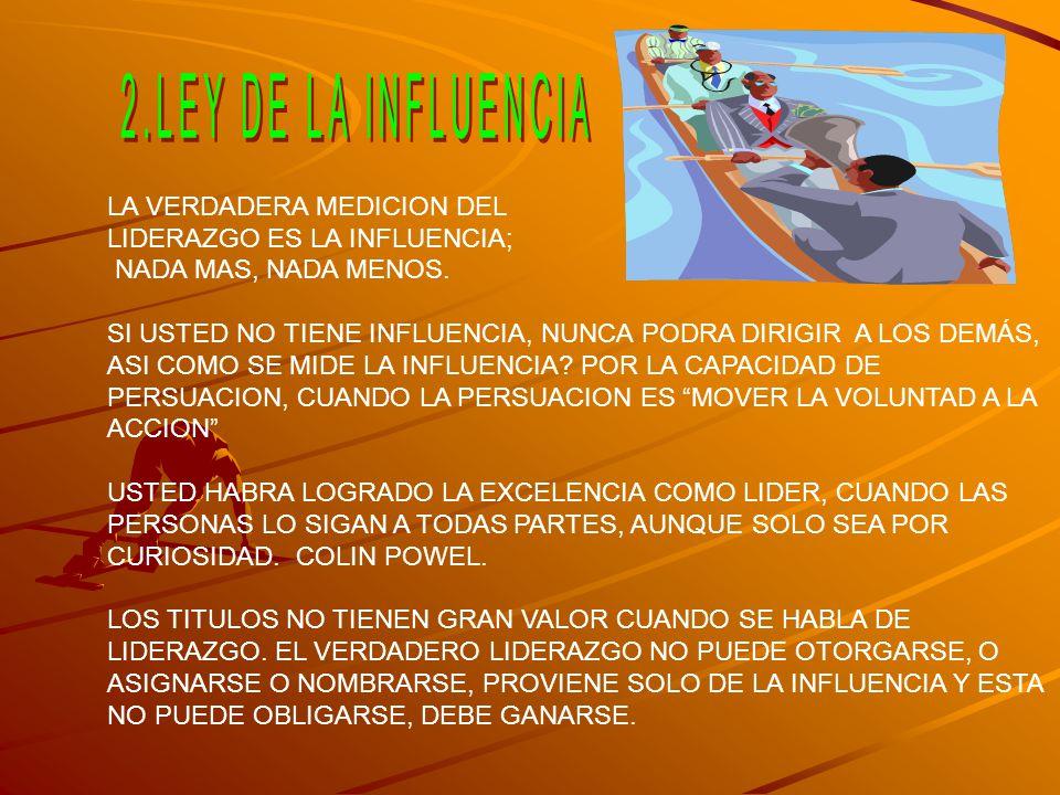 2.LEY DE LA INFLUENCIA LA VERDADERA MEDICION DEL
