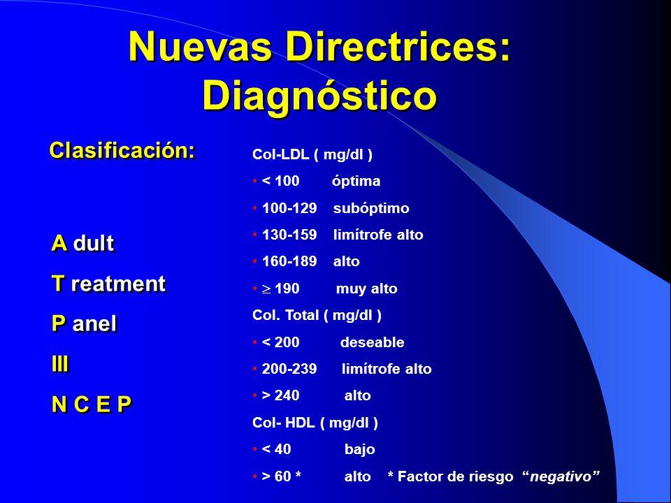 Nuevas Directrices: Diagnóstico