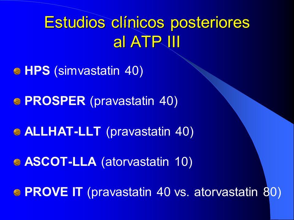 Estudios clínicos posteriores al ATP III