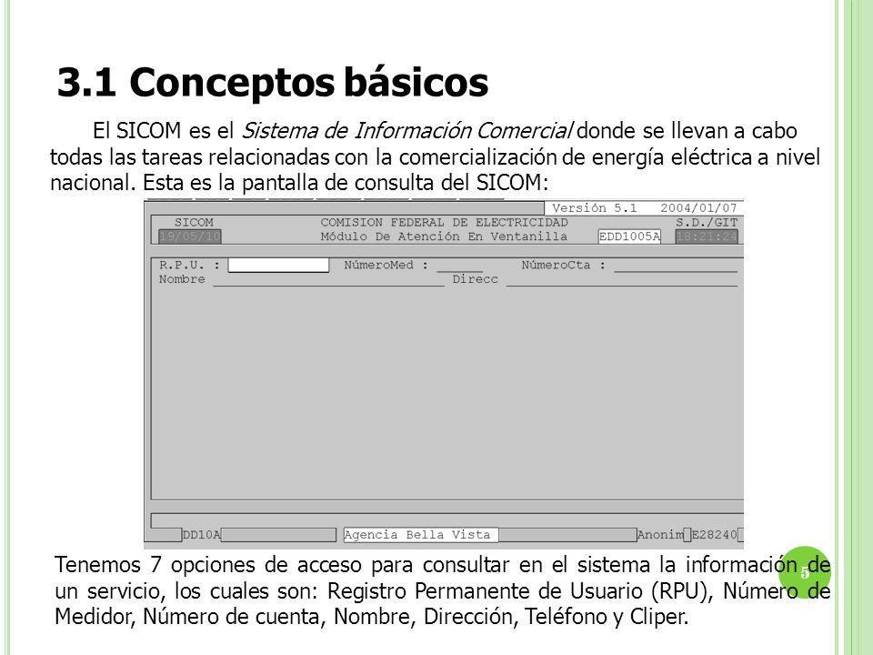 3.1 Conceptos básicos