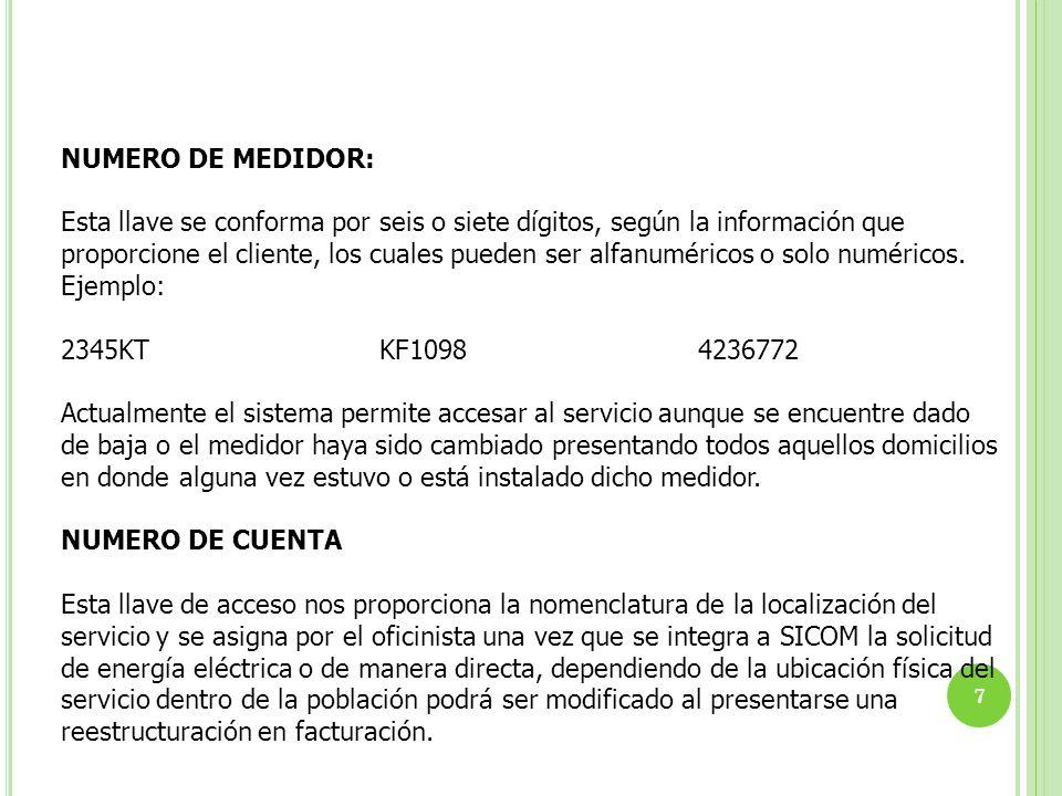 NUMERO DE MEDIDOR: