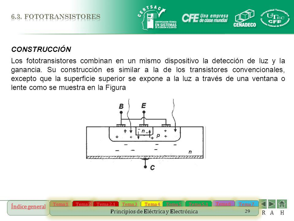6.3. fototransistores CONSTRUCCIÓN.