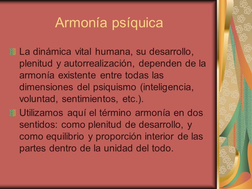 Armonía psíquica