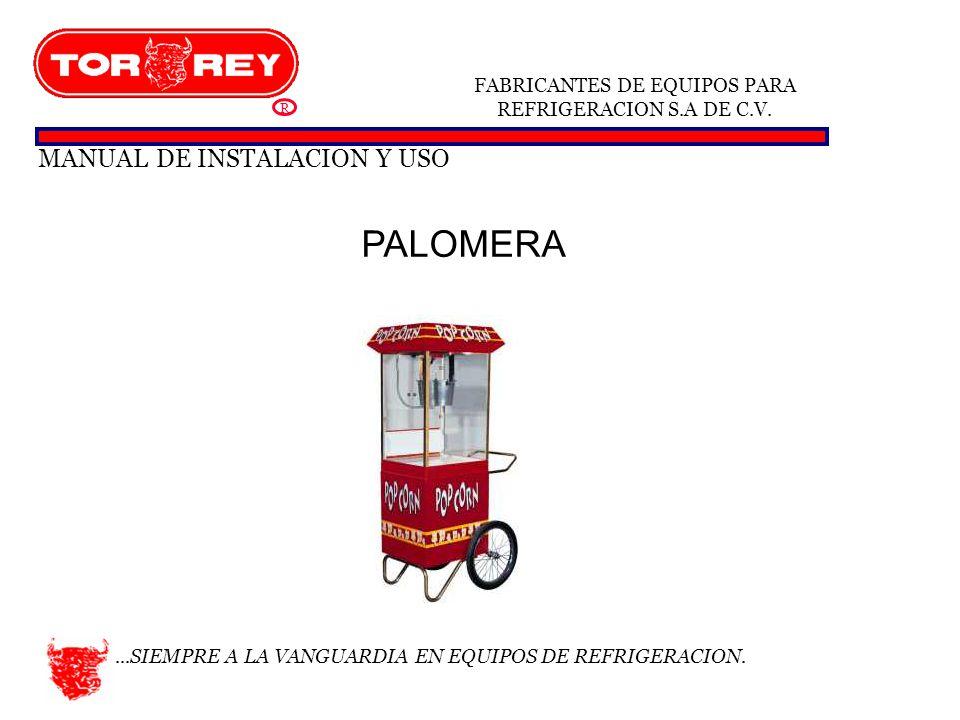 PALOMERA MANUAL DE INSTALACION Y USO